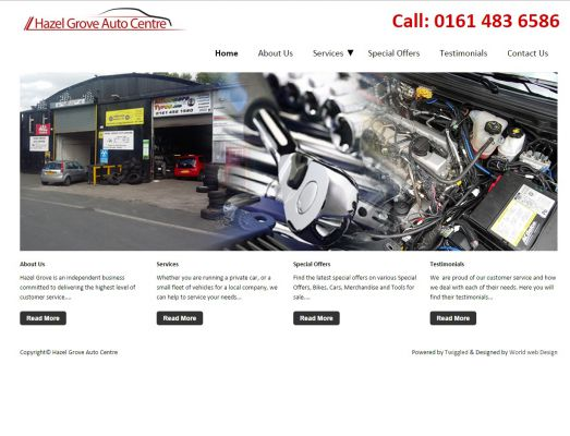 Hazel Grove Website on Twiggled